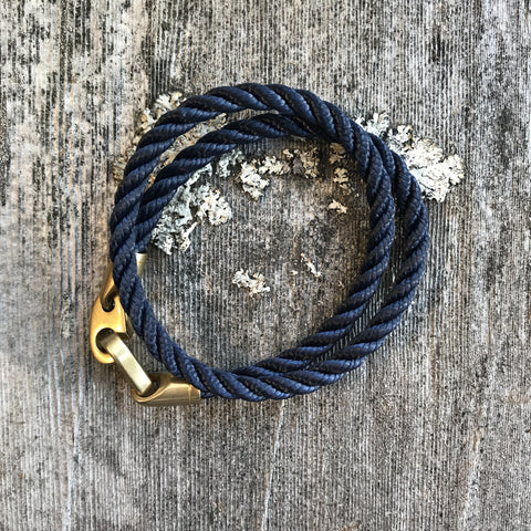 Catch Double Rope - Navy/Brass