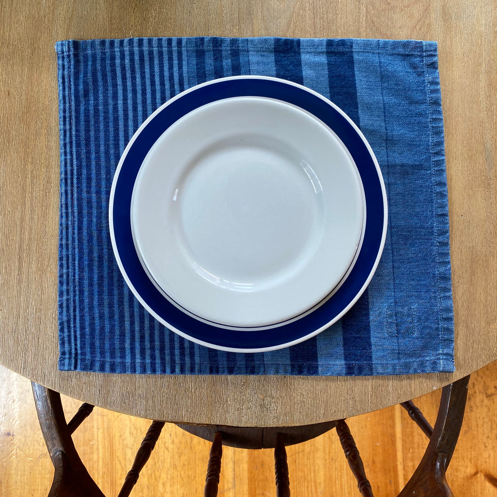 Striped Indigo Denim Placemat