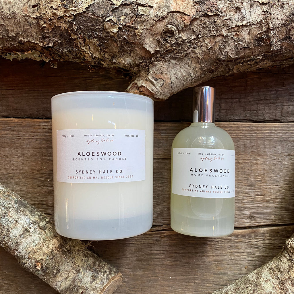 Aloeswood Candle or Room Spray, by Sydney Hale