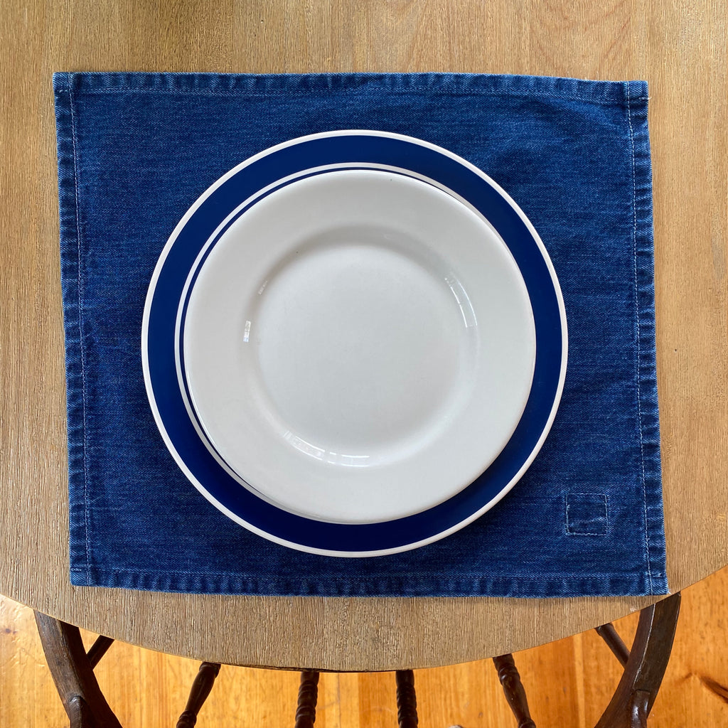 Indigo Denim Placemat, Medium Vintage