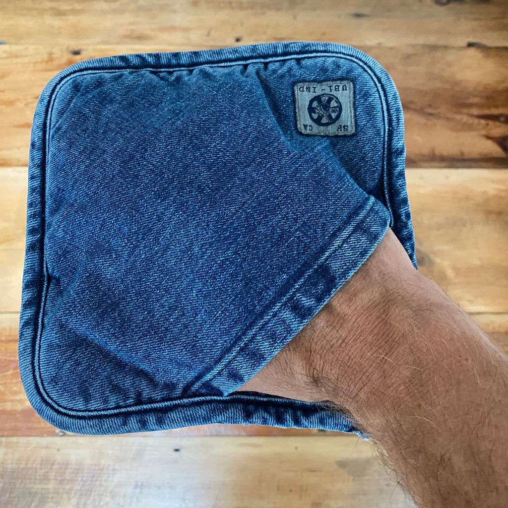 Pot Holder, Indigo Med Vintage Denim