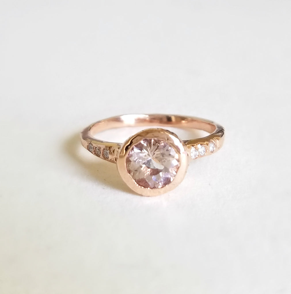Guardian Morganite Solitaire Ring