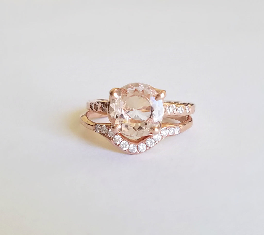 Guardian Morganite Solitaire Ring II
