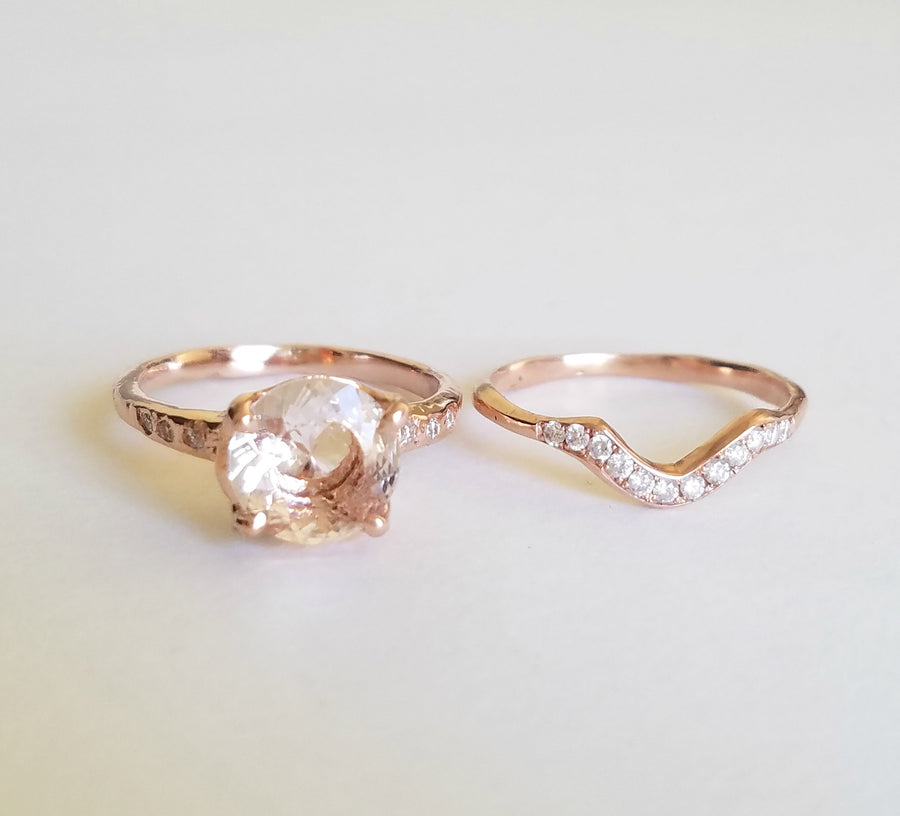 Guardian Morganite Solitaire Prong Ring