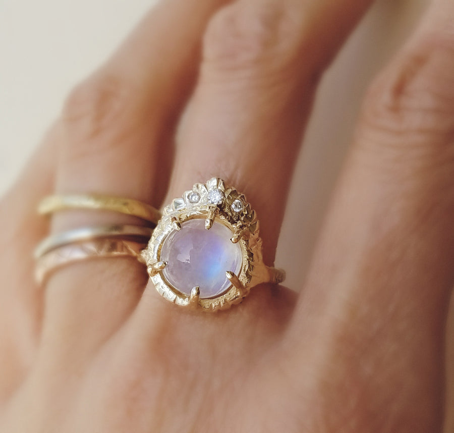 Witness Guardian Moonstone Ring