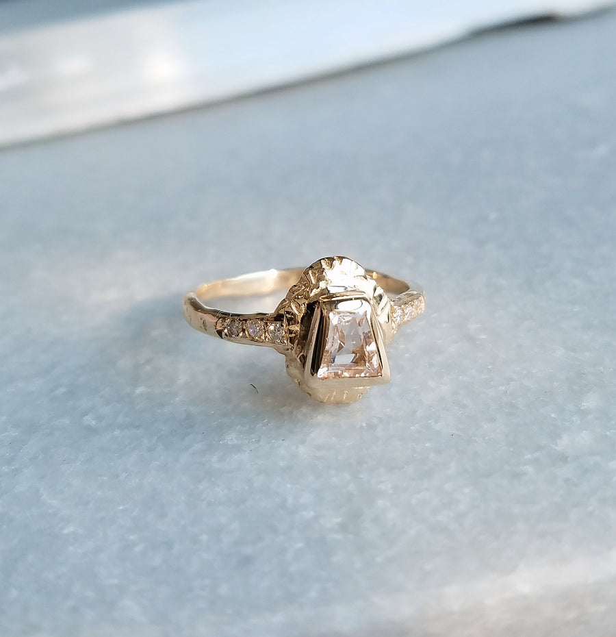 Morganite Sun Ring