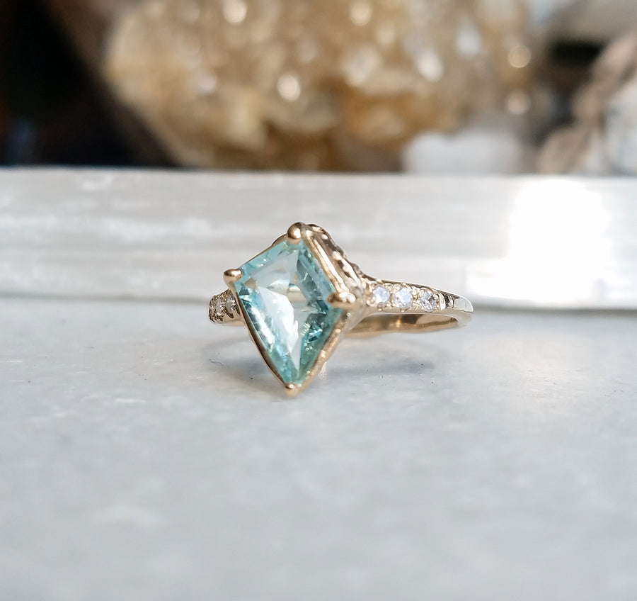 Guardian Diamond Aquamarine Ring
