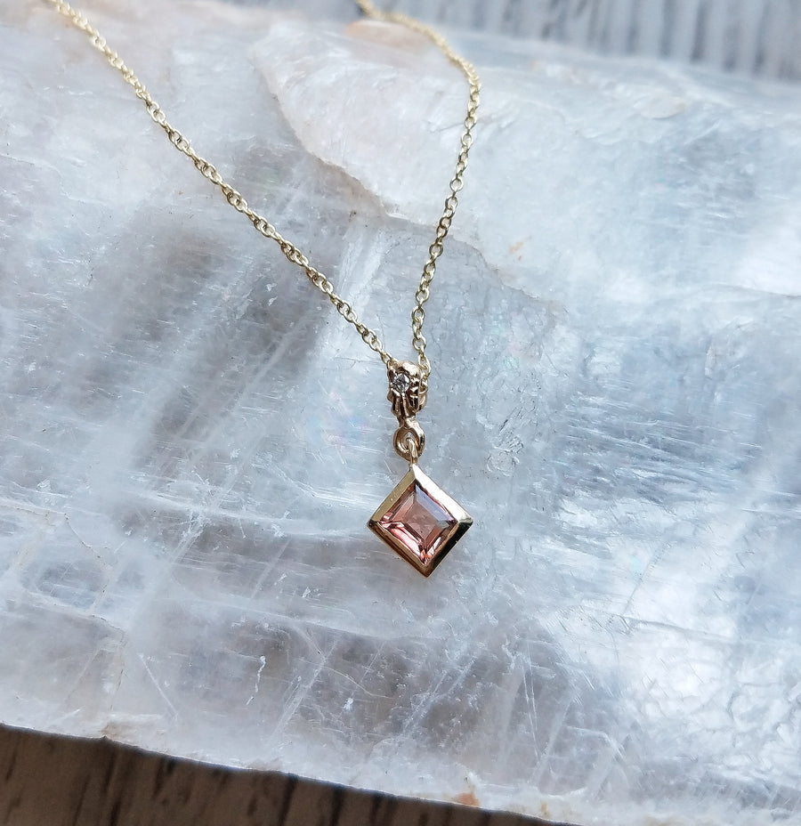 Embracing the Light Diamond Tourmaline Necklace