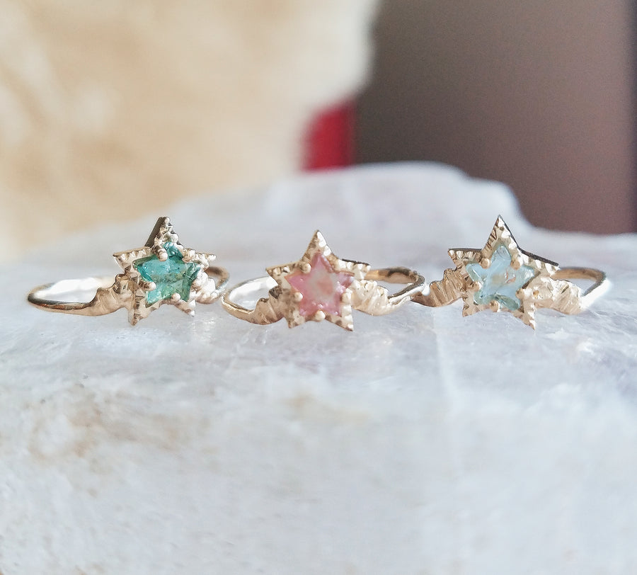 Guardian Pink Tourmaline Star Ring