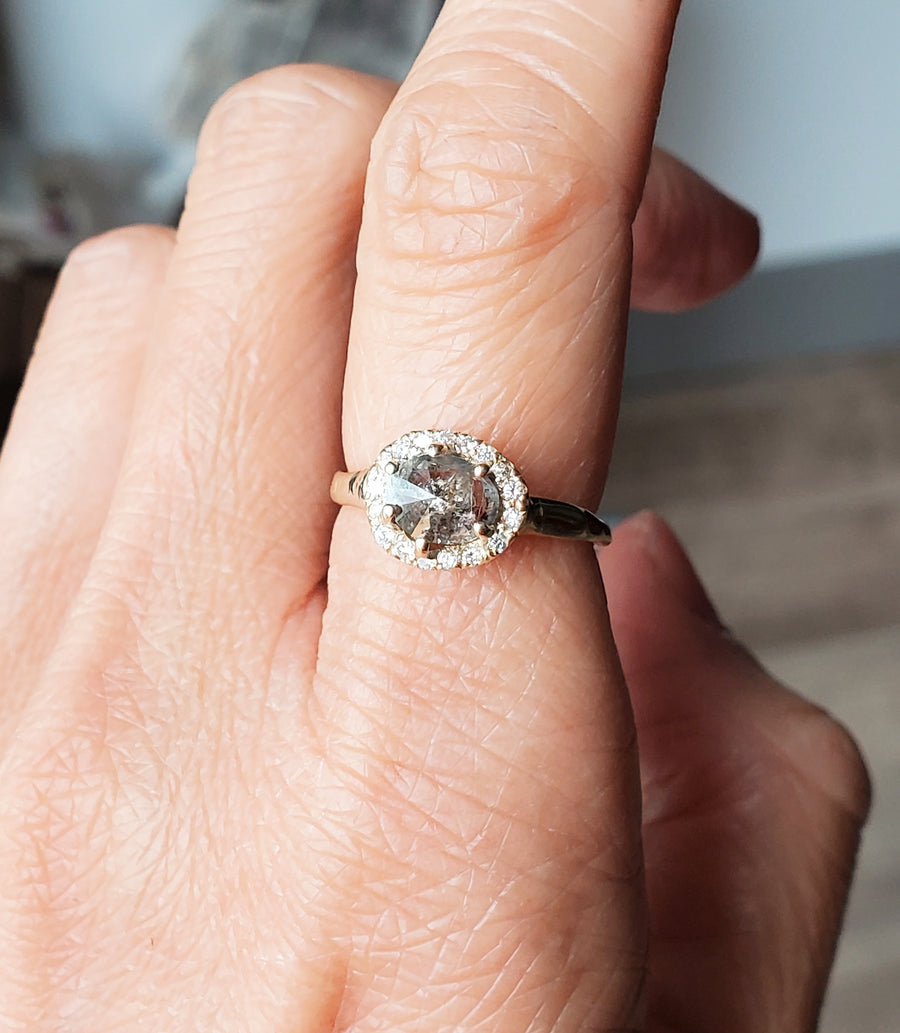 Paradise Desert Rustic Diamond Ring