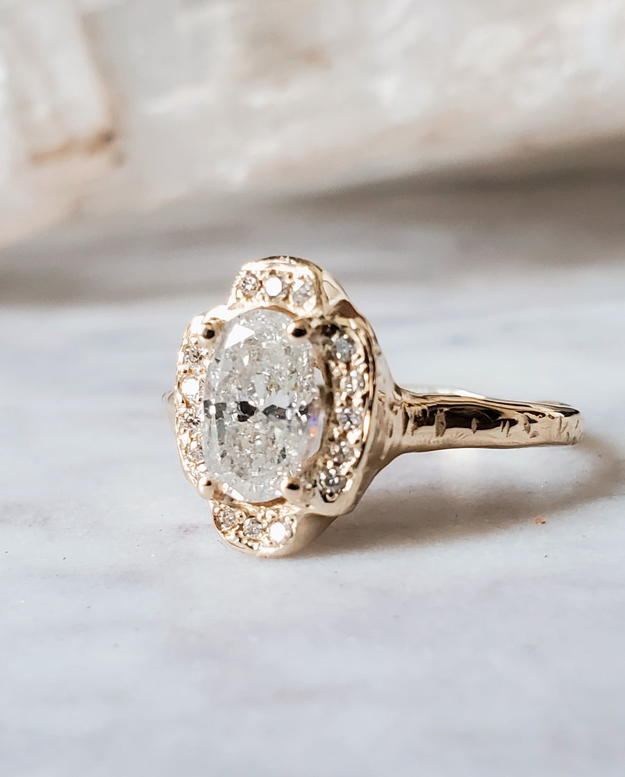 Guardian Oval Diamond Ring
