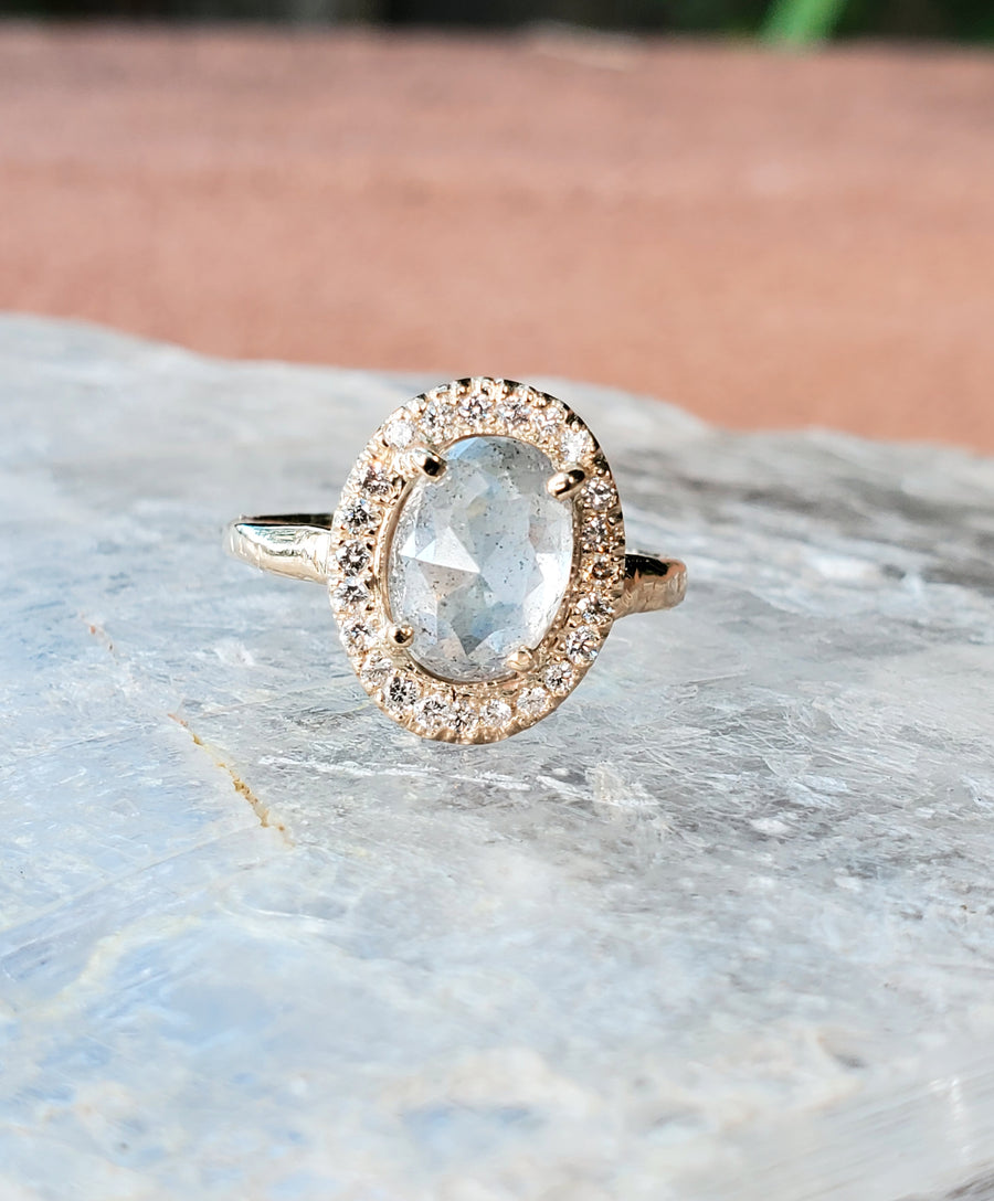 Guardian Rustic Diamond Orb of Light Ring