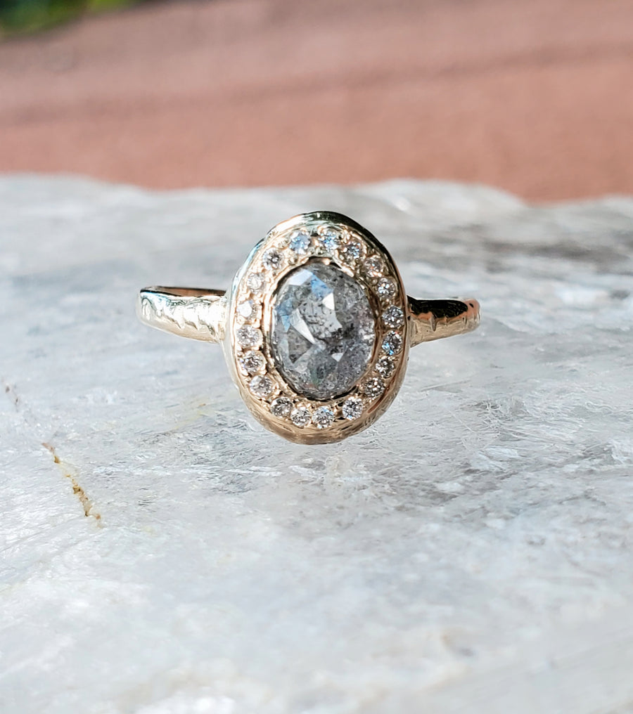 Guardian Rustic Diamond Love of Light Ring