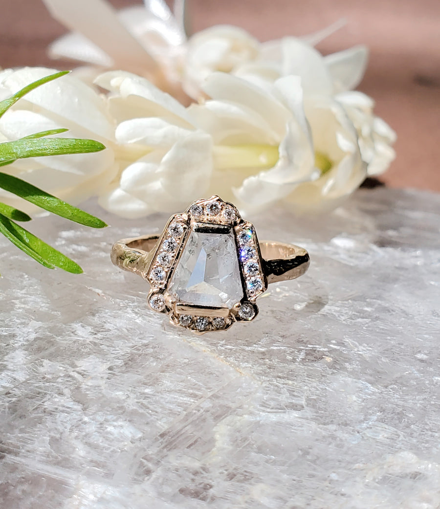 Pillar of Light Supreme Rustic Diamond Ring