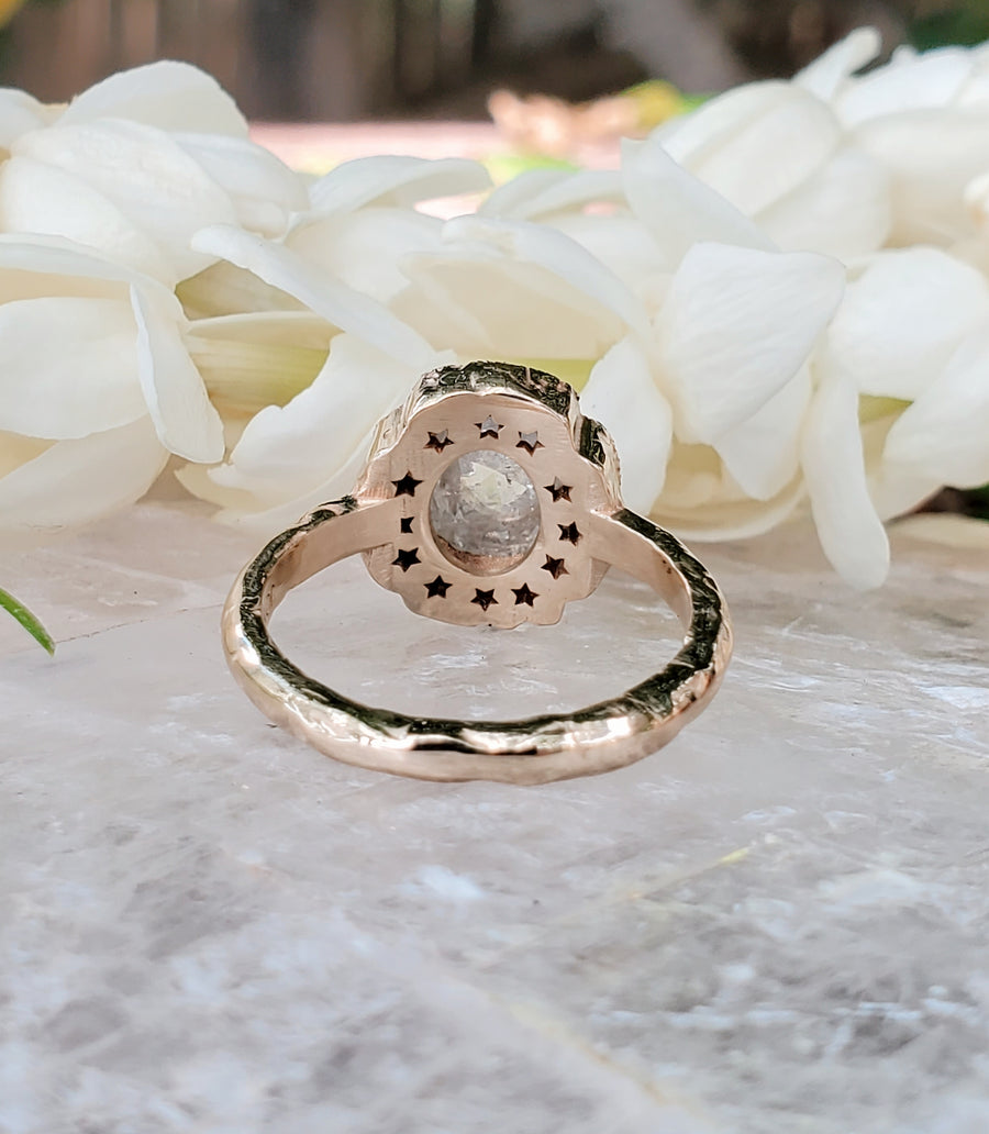 Icy White Rustic Diamond Divinity Supreme Ring
