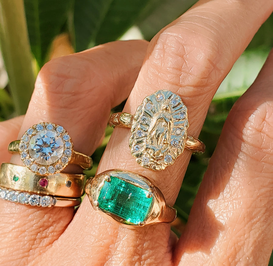 Our Lady of Guadalupe Halo Ring