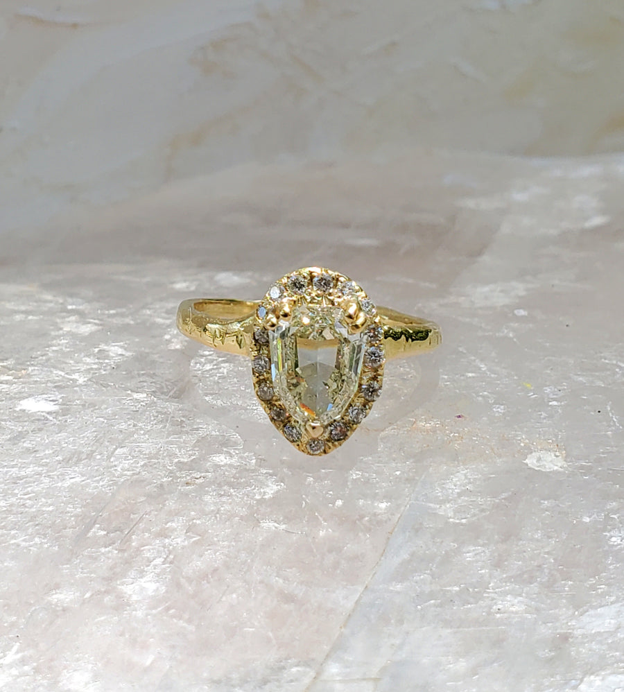 Enchanted Shield Diamond Ring