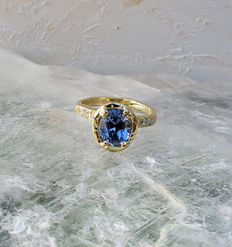 Royal Periwinkle Sapphire Ring