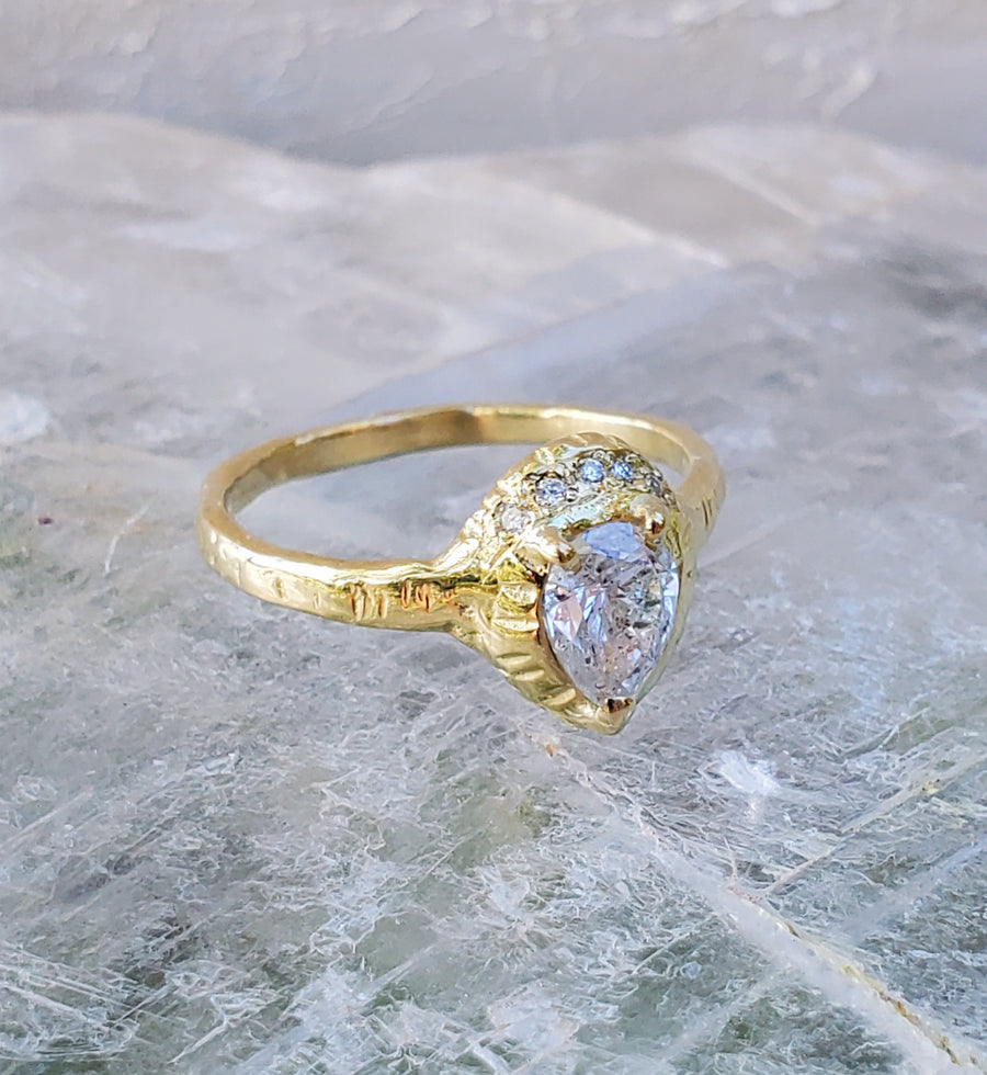 Enchanted Pear Diamond Ring