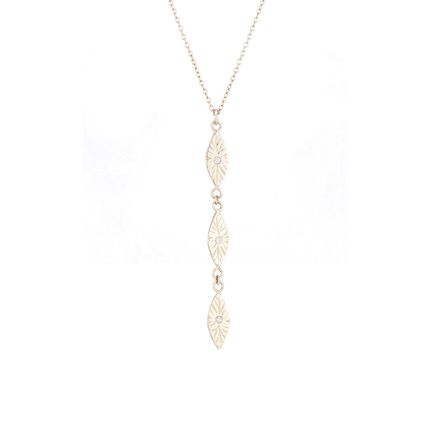 Divine Petal Diamond Drop Necklace