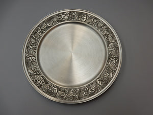 Native Panel design, pewter, presentation plate