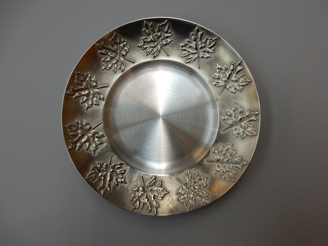 Maple Leaf Small Pewter Plate