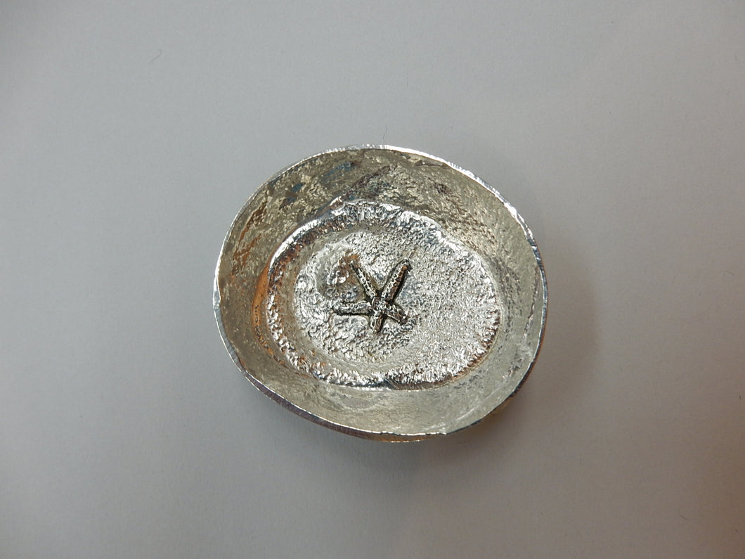 Pewter bowl with sea life