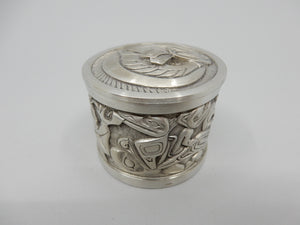 Pewter Box - Salmon Design