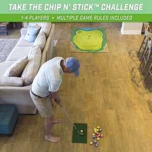 GoSports Chip N' Stick Golf Game | Includes 1 Chip N' Stick Game Mat, 16 Grip Golf Balls, and Chipping Mat Golf playgosports.com