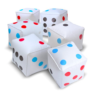 "GoSports 6 Pack Giant Inflatable Dice 6 Pack with Tote Bag | 6"" Size Giant Dice playgosports.com"