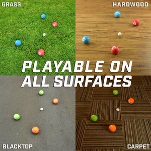 GoSports Soft Bocce Set | Includes 8 Weighted Balls, Pallino and Case | Play Indoors or Outdoors Bocce playgosports.com