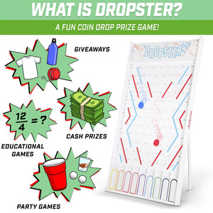 GoSports DROPSTER Prize Drop Game with Customizable Slots Dropster playgosports.com