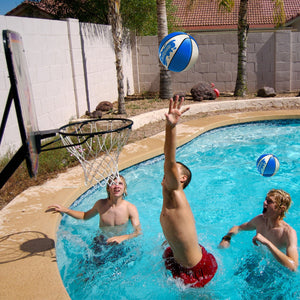 "GoSports Blue Water Basketballs Set of 2 | Size 3 (7"") Pool Basketballs for Splash Hoop PRO and Similar Pool Hoops Pool Toy playgosports.com"