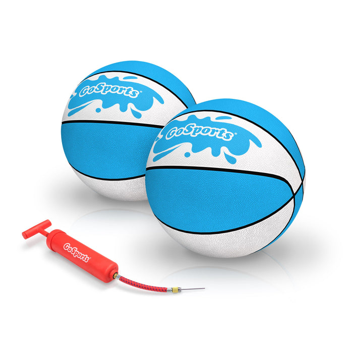 GoSports Water Basketball 2 Pack, Size 3 - Great for Swimming Pool Basketball Hoops