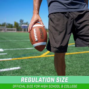 GoSports Combine Football 6 Pack | Regulation Size Official Composite Leather Balls Football playgosports.com