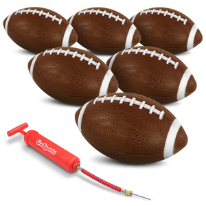 "GoSports Xtreme Flight Footballs 6 Pack | 9"" Rubber Inflatable Footballs Football playgosports.com"