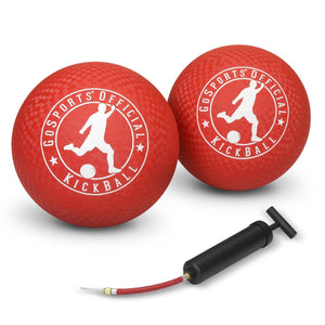 "GoSports Official Kickball with Pump (2 Pack), 10"" Playground Ball playgosports.com"