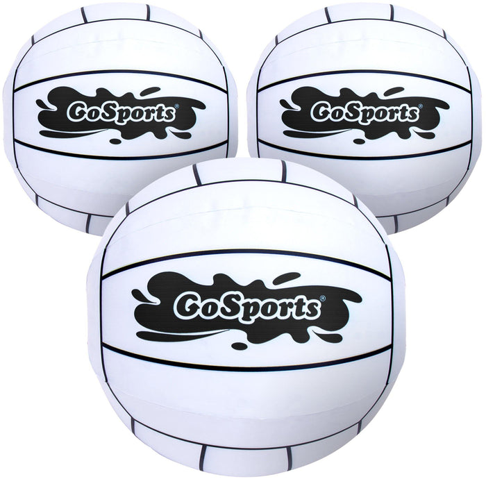 "GoSports 12"" XL Inflatable Volleyball, 3 Pack - Easier Rallies on an Epic Scale for All Skill Levels"