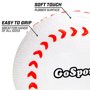 GoSports Rubber Baseball 12 Pack for Kids | Soft & Safe Inflatable Design with Pump | Great for Throwing, Catching and Batting Practice for Beginners Baseball playgosports.com