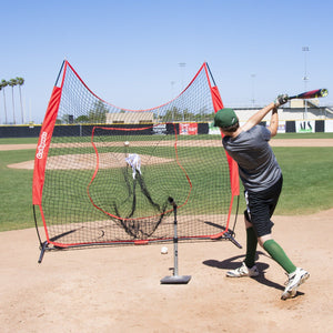 GoSports 7' x 7' Baseball & Softball Practice Hitting & Pitching Net with Bow Frame, Carry Bag and Bonus Strike Zone, Great for All Skill Levels Baseball playgosports.com