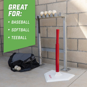 GoSports Baseball & Softball Batting Tee | Adjustable Height Rubber Tee for All Leagues and Skill Levels Baseball playgosports.com