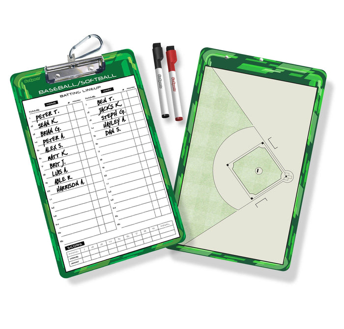 GoSports Baseball and Softball Coaches Boards - 2 Sided Premium Dry Erase Clipboards