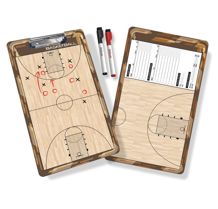 GoSports Basketball Coaches Boards - 2 Sided Premium Dry Erase Clipboards