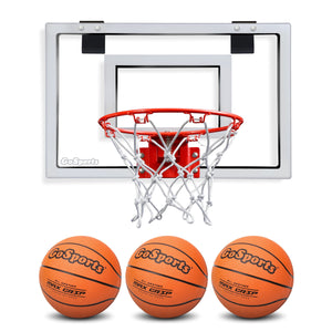 GoSports Basketball Door Hoop with 3 Premium Basketballs & Pump - Standard Size Basketball playgosports.com