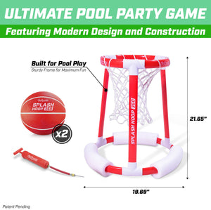 GoSports Splash Hoop 360 Floating Pool Basketball Game | Includes Hoop, 2 Balls and Pump Pool Toy playgosports.com
