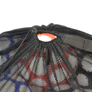 GoSports Premium Mesh Ball Bag with Sport Ball Pump, Black, Full Size Ball Accessories playgosports.com