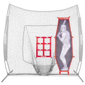 GoSports Baseball & Softball Pitching Kit | Practice Accuracy Training with Strike Zone & XTRAMAN Dummy Batter Baseball playgosports.com