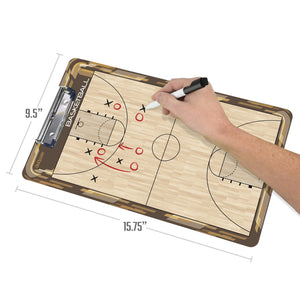 GoSports Basketball Coaches Boards - 2 Sided Premium Dry Erase Clipboards Coaches Board playgosports.com