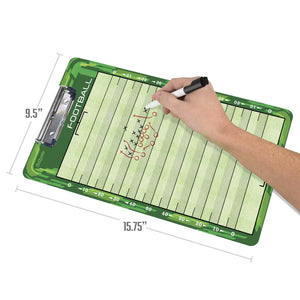 GoSports Football Coaches Boards - 2 Sided Premium Dry Erase Clipboards Coaches Board playgosports.com