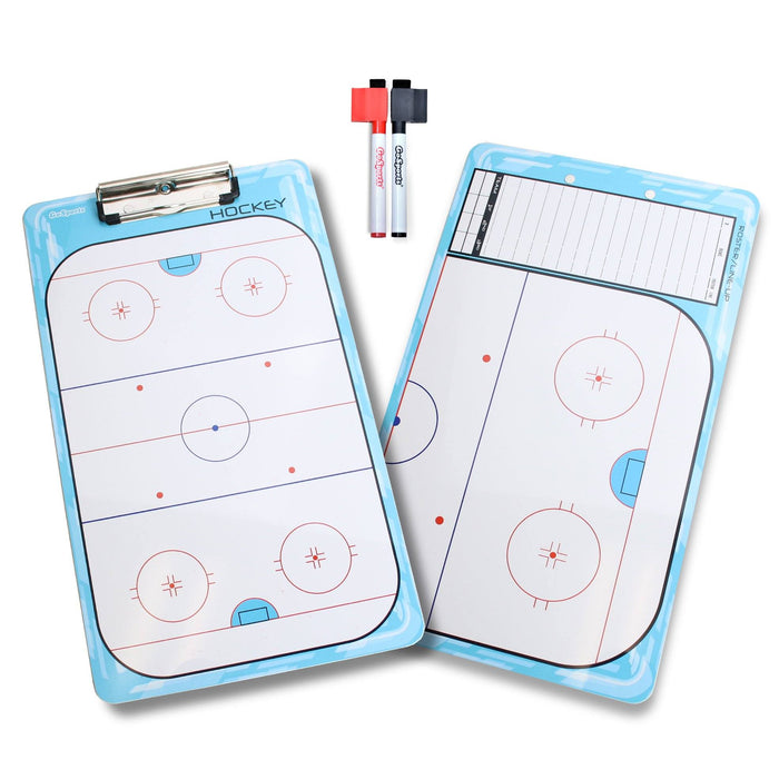 GoSports Hockey Coaches Boards - 2 Sided Premium Dry Erase Clipboards
